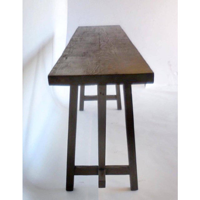 Rustic Reclaimed Wood Buttress Console For Sale - Image 3 of 9