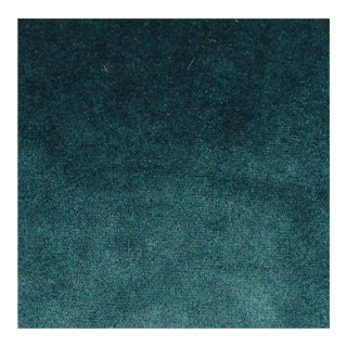 Contemporary Amsterdam Teal Velvet Fabric - 36ʺW × 54ʺH For Sale
