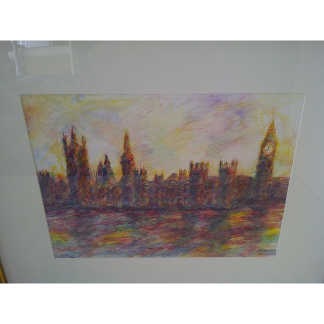 "Contemporary ""London #2"" Original Painting by J.E. Miller For Sale - Image 3 of 9"