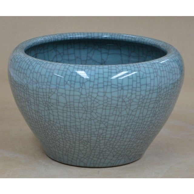 Sarreid LTD Hand Made Crackle Glaze Bowl - Image 2 of 2