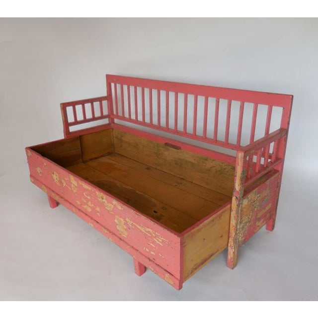 Mid 19th Century 19th Century Painted Swedish Bench/Daybed For Sale - Image 5 of 9