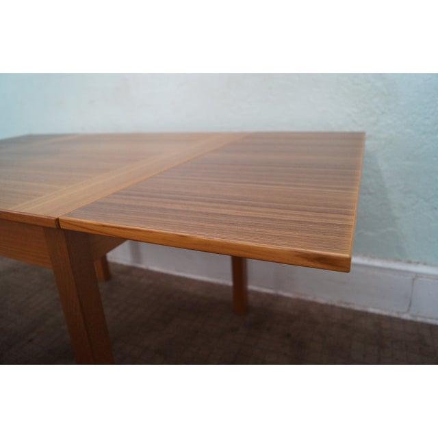 Danish Modern Teak Refractory Square Dining Table - Image 6 of 10