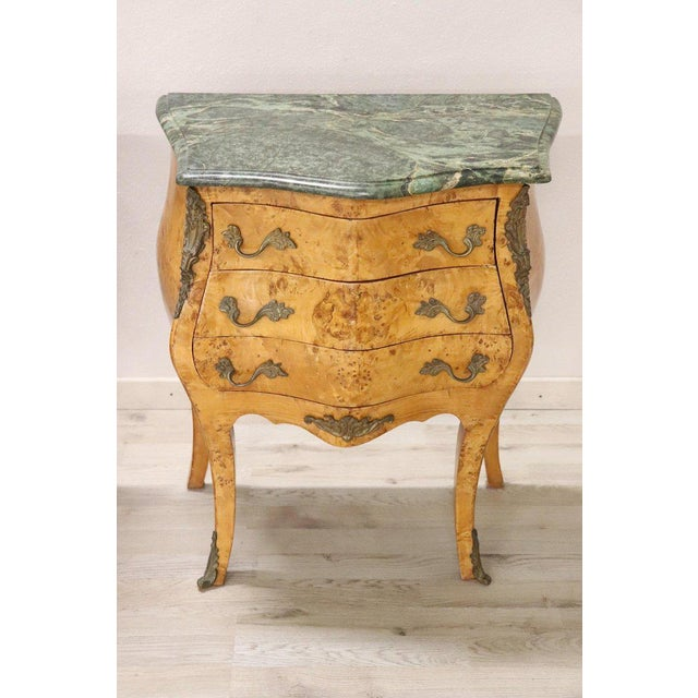 Louis XV 20th Century Italian Venetian Louis XV Style in Wood Burl - a Pair For Sale - Image 3 of 13