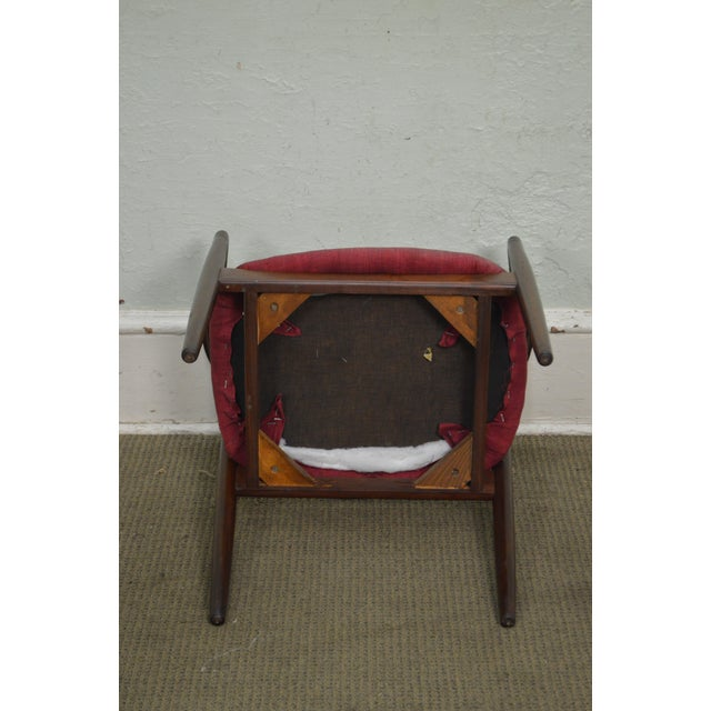 Danish Modern Vintage Curved Back Arm Chair by Raymor For Sale In Philadelphia - Image 6 of 10