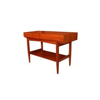 Mid Century Ib Kofod Larsen Teak Console Table for Faarup Mobelfabrik For Sale