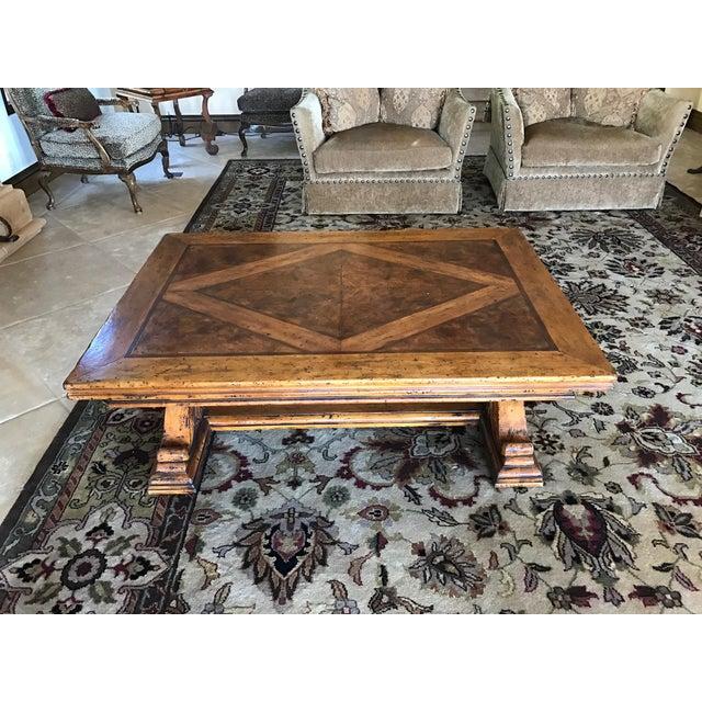Henredon Oriental Style Coffee Table: Henredon Castellina Wood Coffee Table