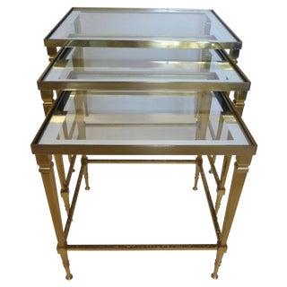 Mid-Century Italian Brass Nesting Tables - 3