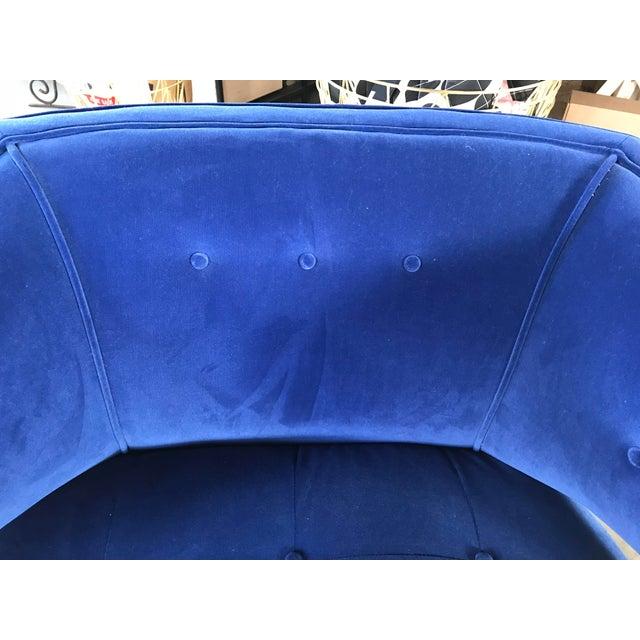 Custom Cobalt Club Chair For Sale - Image 4 of 5