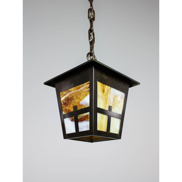 Arts & Crafts Mission Lantern Pendant Fixture - Image 4 of 6