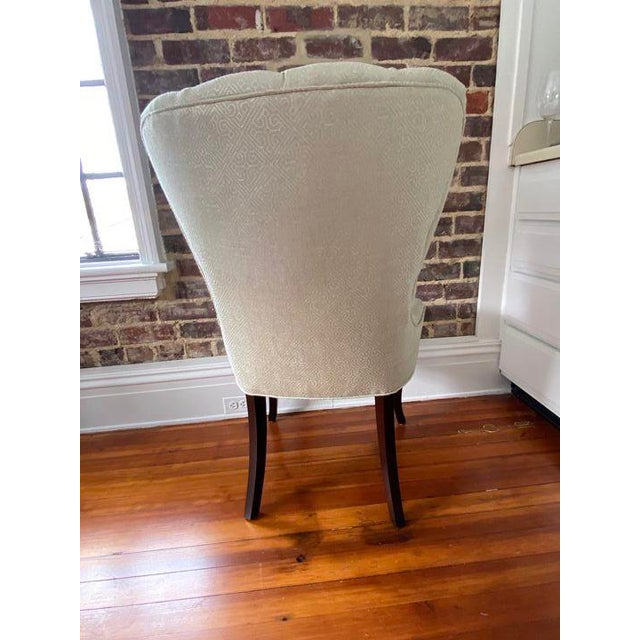 Baker Furniture Company Baker Furniture Tufted Occasional Chair For Sale - Image 4 of 5