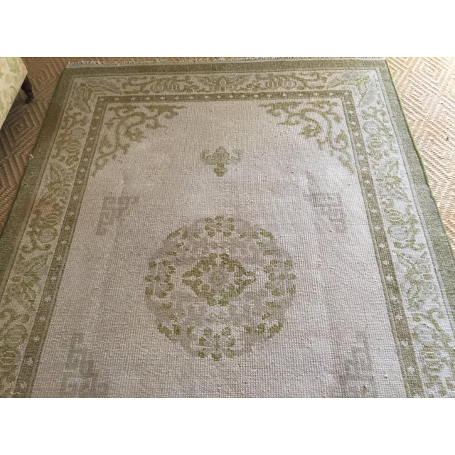 """Vintage Asian Area Rug - 5'11"""" X 9'4"""" - Image 3 of 5"""