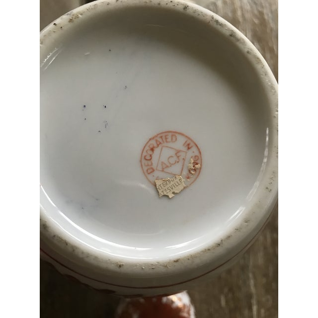 Asian Painted Porcelain Ginger Jar Vase - Image 6 of 11