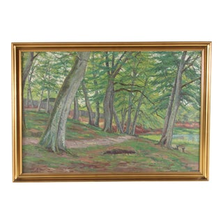 Madriu Trek, Impressionist Forest Landscape by h.j. Storm For Sale