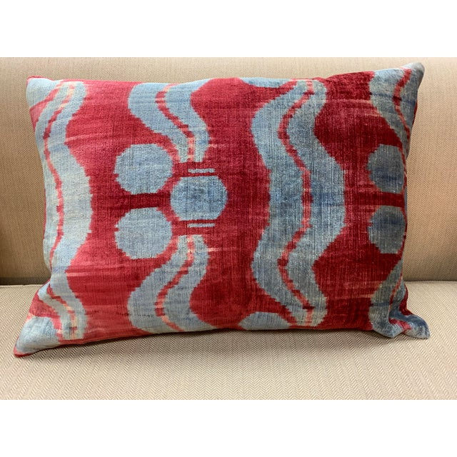 Contemporary Contemporary Handwoven Cotton Velvet Pillow For Sale - Image 3 of 9