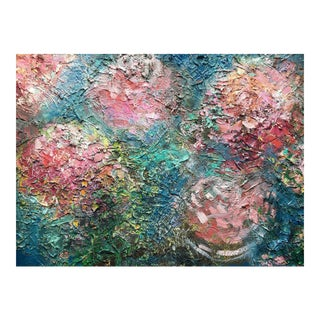 """Flower Dust"" Textured Oil Painting"