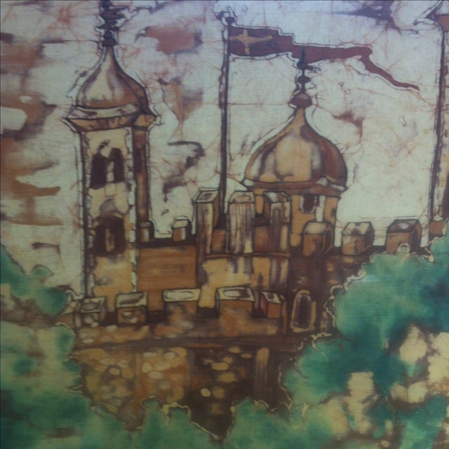 Children's Scandinavian Modern Batik Castle by Ortrud Yates For Sale - Image 3 of 5