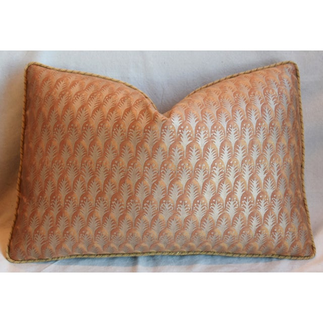 """Early 21st Century Italian Mariano Fortuny Piumette Feather/Down Pillows 23"""" X 15"""" - Pair For Sale - Image 5 of 13"""