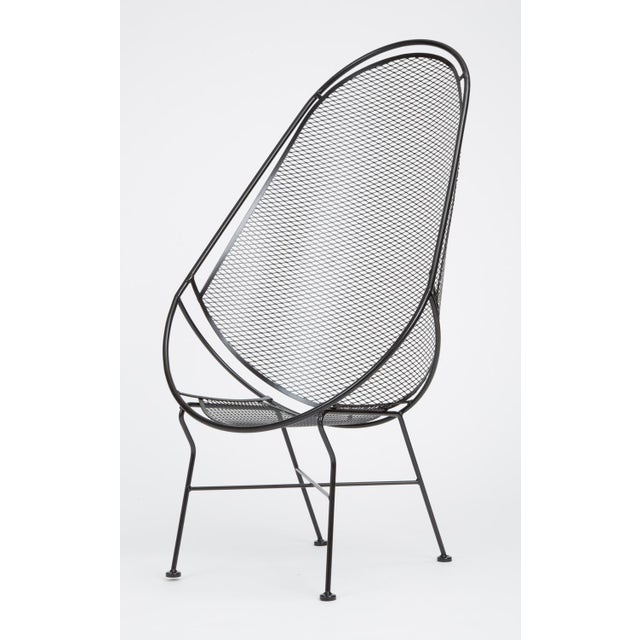 """A high-back patio lounge chair designed by Maurizio Tempestini for John Salterini from the 1950 """"Radar"""" line. The egg-..."""