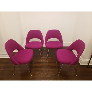 Eero Saarinen Armless Executive Chairs - Set of 4 Preview