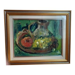 1990s Still Life Impressionist Oil Painting, Framed For Sale