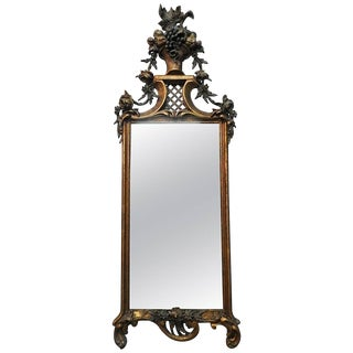 19th Century French Flower Basket Mirror For Sale