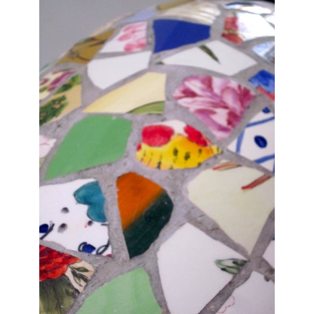 Large Handmade Mosaic Floor Vase Urn - Image 7 of 11