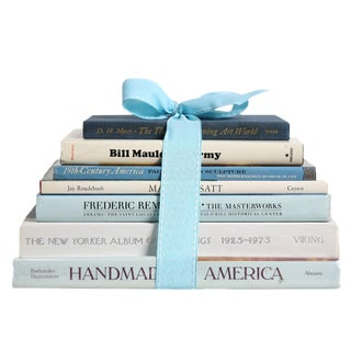 Vintage Book Gift Set: American Art, S/7 For Sale