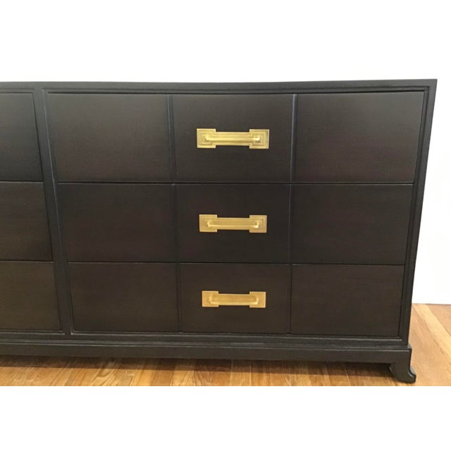1950's Mid Century Tommi Parzinger for Charak Ebonized Chest of Drawers For Sale In New York - Image 6 of 13