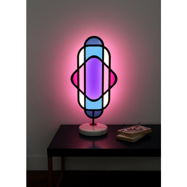 Modern Dichros Table Lamp Signed by Arturo Erbsman For Sale - Image 3 of 9