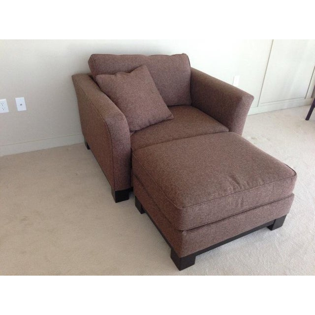 Contemporary Jonathan Louis Kenton Contemporary Upholstered Armchair & Ottoman For Sale - Image 3 of 8
