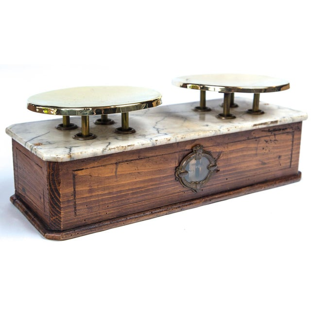 Marble Top Bakery Scale, France, Late 19th Century For Sale In New York - Image 6 of 11