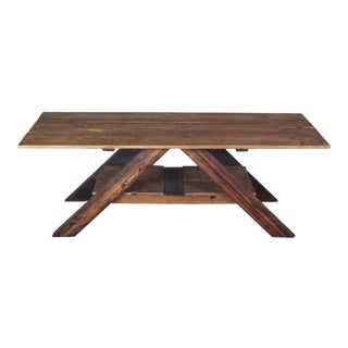 Rustic Handmade Plank Table by Darby Designs Inc For Sale