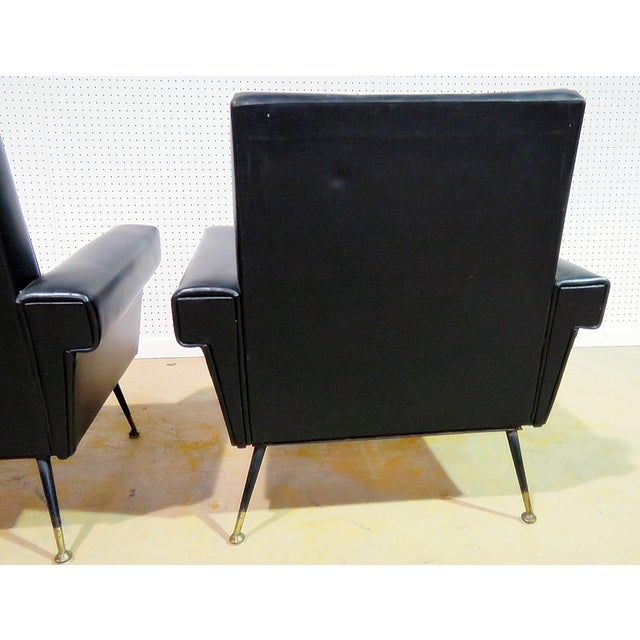 Mid 20th Century Mid Century Vintage Italian Arm Chairs - a Pair For Sale - Image 5 of 11