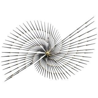Brutalist Pinwheel Sunburst Sculpture by Ron Schmidt For Sale
