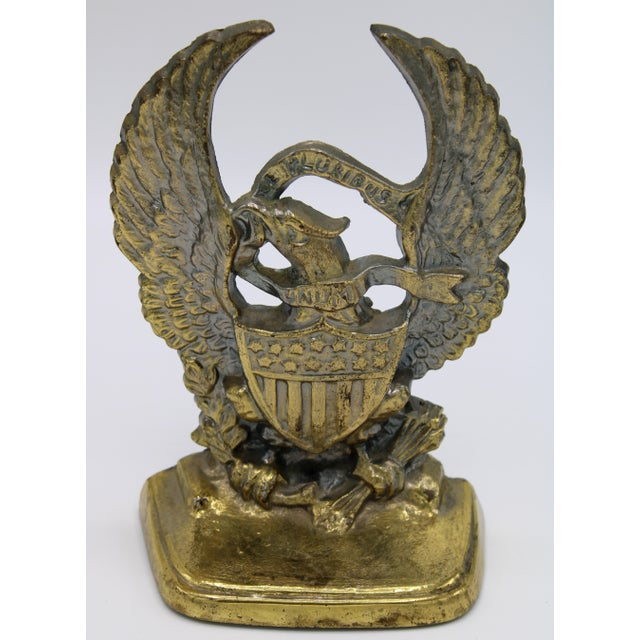 Traditional Vintage Federal Eagle Bookends - a Pair For Sale - Image 3 of 8