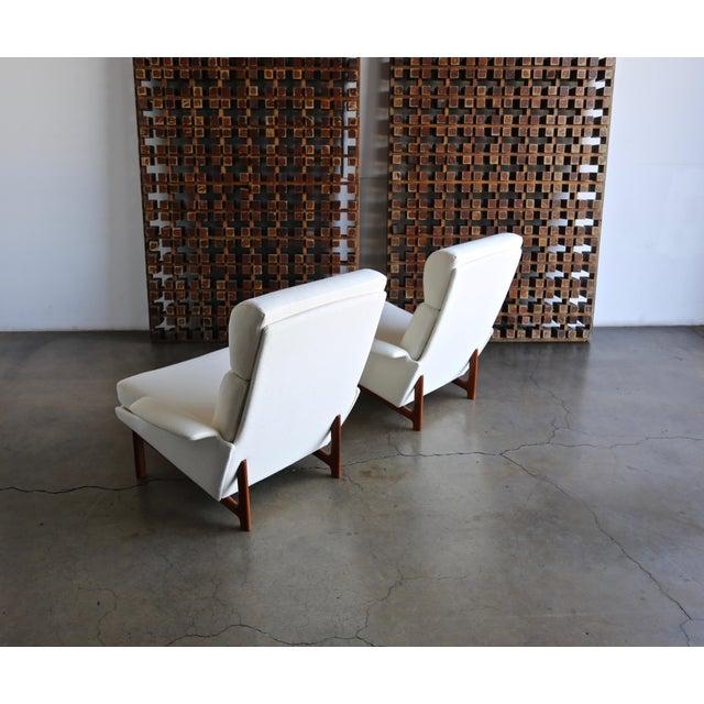 "Wood Ib Kofod-Larsen ""Adam"" Lounge Chairs for Mogens Kold Møbelfabrik Circa 1960 - a Pair For Sale - Image 7 of 13"