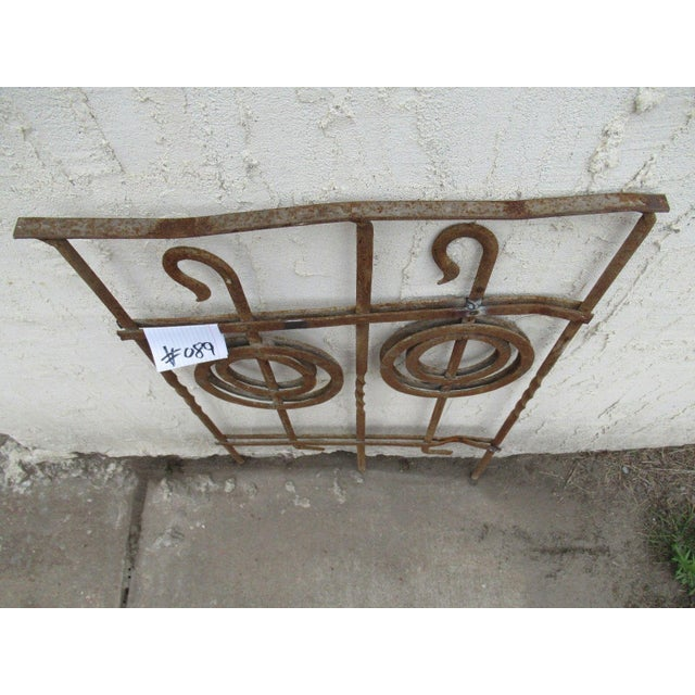 Antique Victorian Iron Gate Window Garden Fence Architectural Salvage Door #089 For Sale - Image 5 of 7