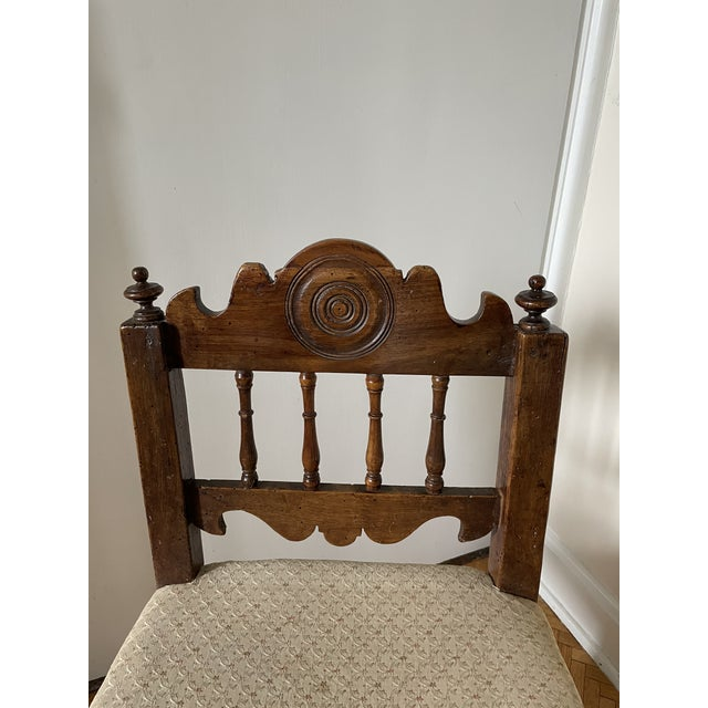 17th Century Italian Florentine Hand Carved Upholstered Walnut Side Chair For Sale - Image 10 of 13