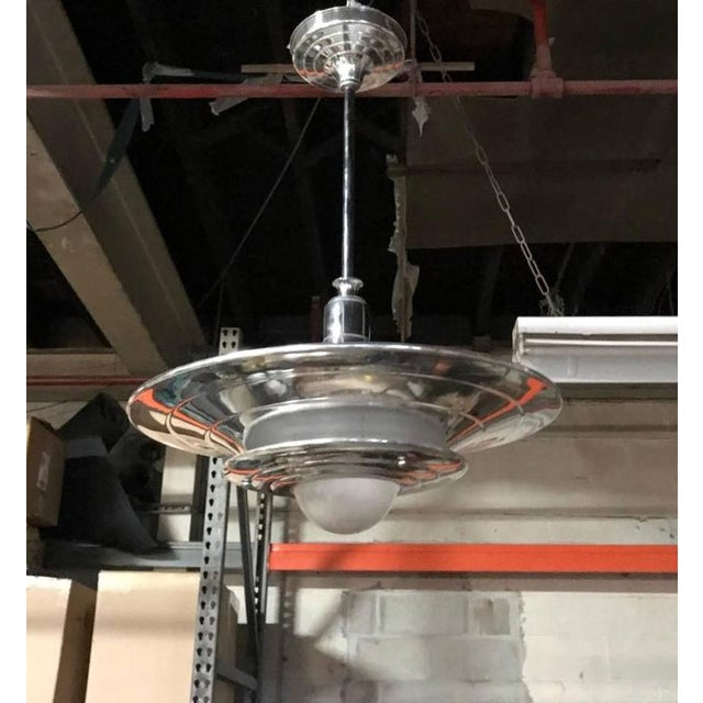 French Mid-Century Modernist Ceiling Light or Chandelier - Image 3 of 4