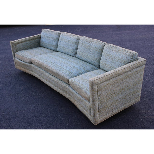 Blue Erwin Lambeth Curved Sofa For Sale - Image 8 of 8