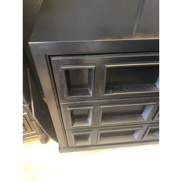 Mid-Century Modern Mid-Century Black Nine Drawer Dresser For Sale - Image 3 of 13