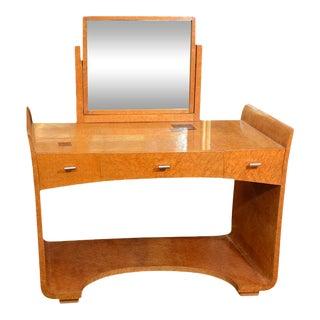 Eugene Schoen Art Deco Vanity Table & Mirror - a Pair