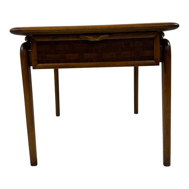 1960s Lane Perception Walnut End Table For Sale