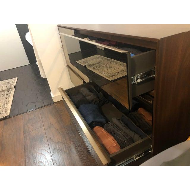 Danish Modern West Elm Nouveau Walnut Mid Century 6 Drawer Dresser For Sale - Image 3 of 9