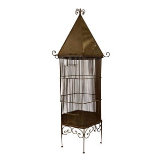 1920s Monumental Metal Bird Cage For Sale