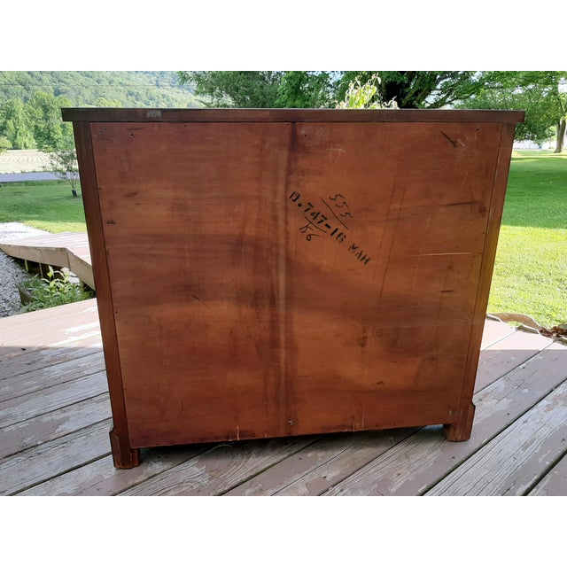 Vintage 1940's Mahogany 4 Drawer Server Accent Chest For Sale - Image 4 of 13