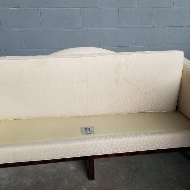 Ivory Hickory Chair Co Historic James River Collection Carved Chippendale Camelback Sofa For Sale - Image 8 of 13