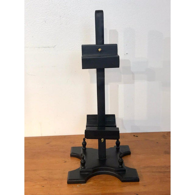 Regency Style Ebonized Dual Sided Table Easel For Sale - Image 4 of 11