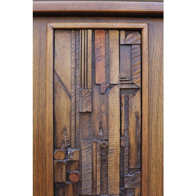 "Lane ""Pueblo"" Brutalist Armoire/Dresser - Image 8 of 10"