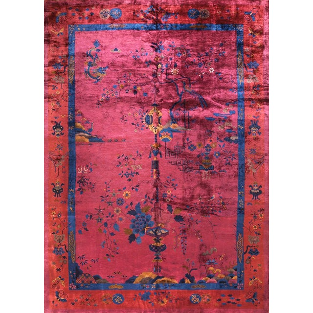 Textile Chinese Art Deco Rug For Sale - Image 7 of 7